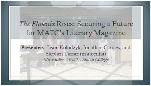 The Phoenix Rises-- Securing a Future for MATC's Literary Magazine-- Image